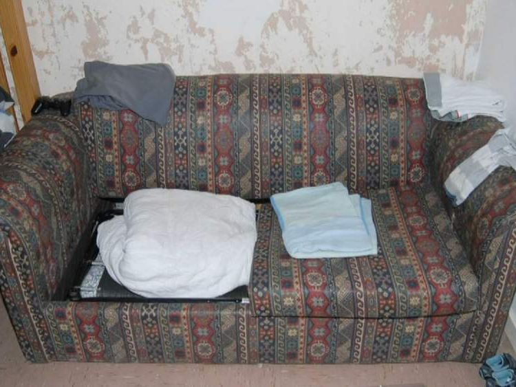Sofa in Keanu Williams murder flat