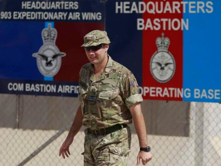 British soldier at Camp Bastion