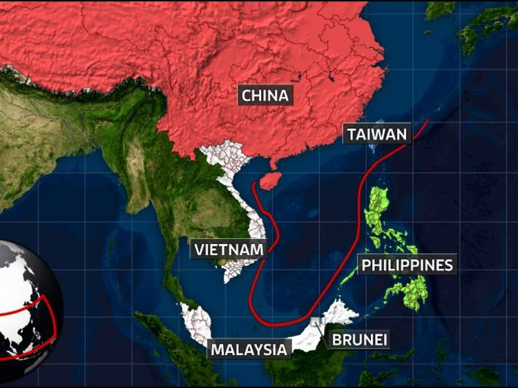 South China Sea disputed territory