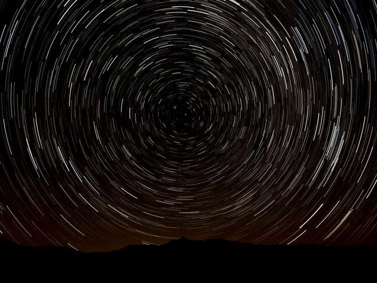 Perseids meteor shower, Spain, 2013.