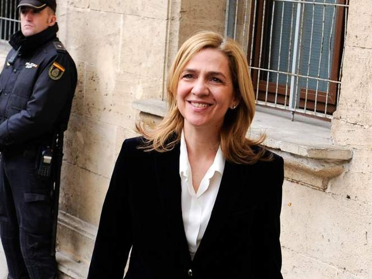 Hearing of Princess Cristina Of Spain in Noos Case in Palma de Mallorca