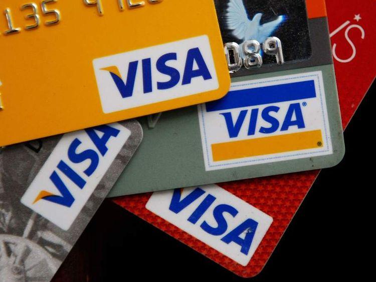 Visa cards.