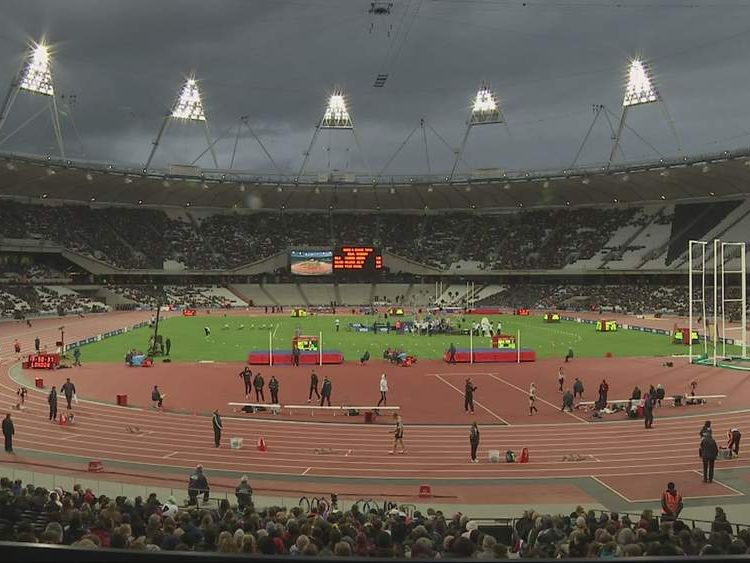 Olympic stadium in east London