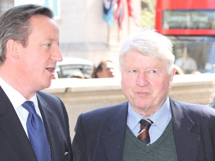 David Cameron and Stanley Johnson