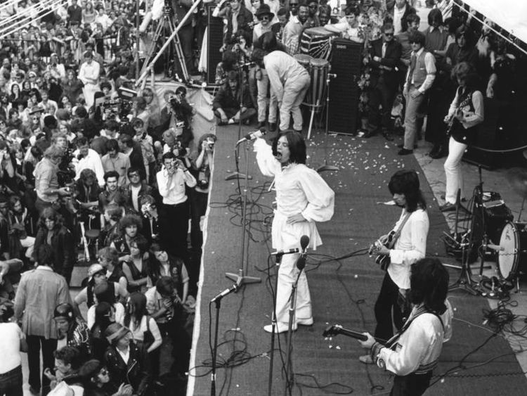 The Rolling Stones in Hyde Park in 1969