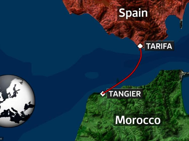 Route immigrant who hid above ferry engine took between Morocco and Spain