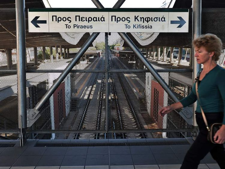 The General Strike has largely shut down the Greek public transport system