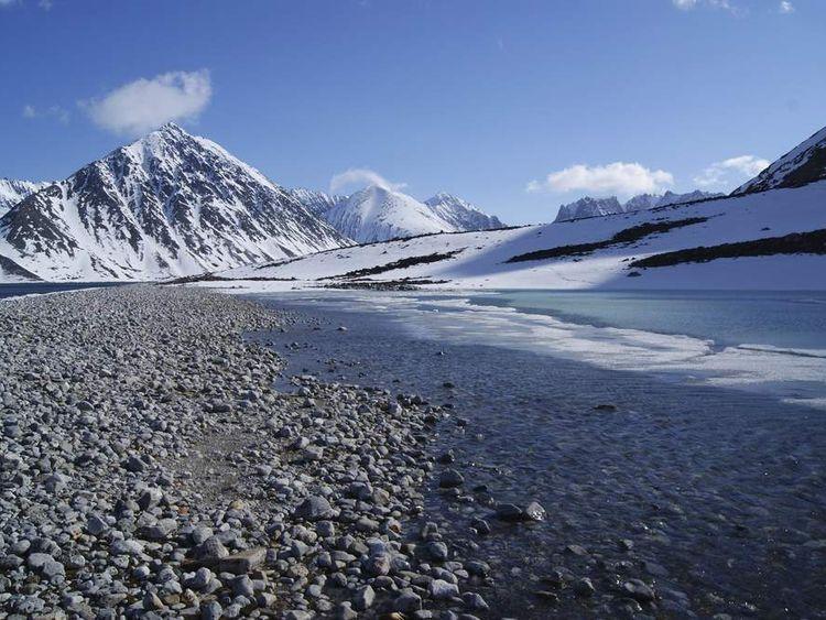 Sppitsbergen in the Svalbard islands