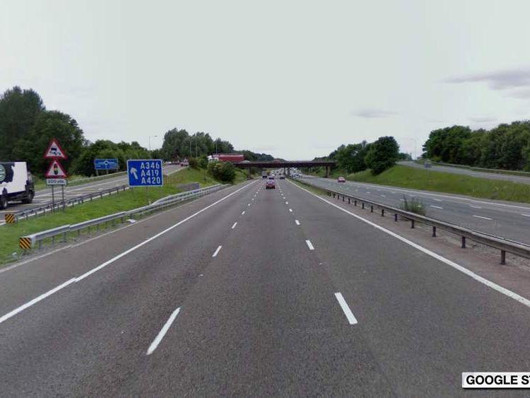 M4 Junction 15, Swindon turn-off