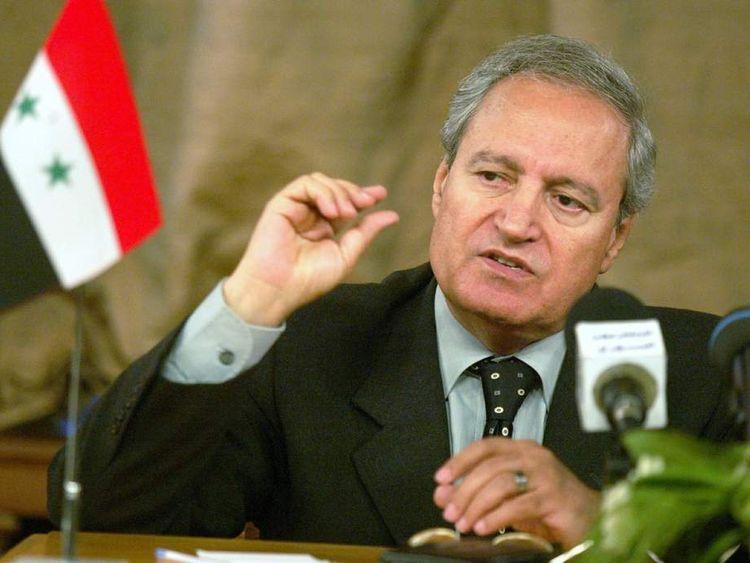 Syrian Foreign Minister Farouk al-Sharaa