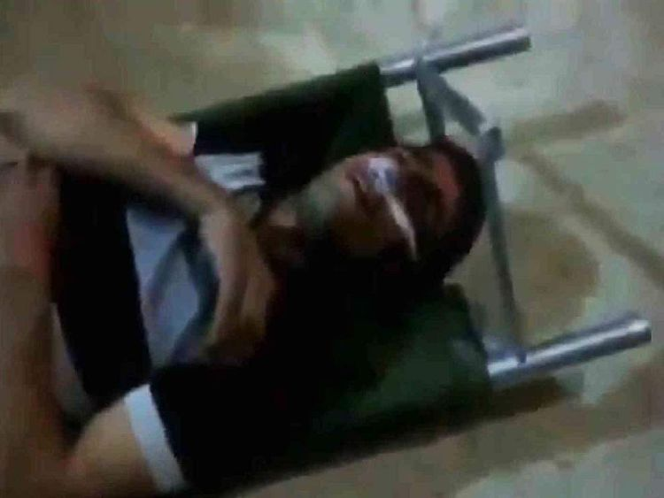 Unverified video apparently showing victims of a chemical weapons attack in Syria