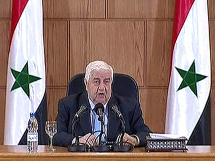 Syrian foreign minister