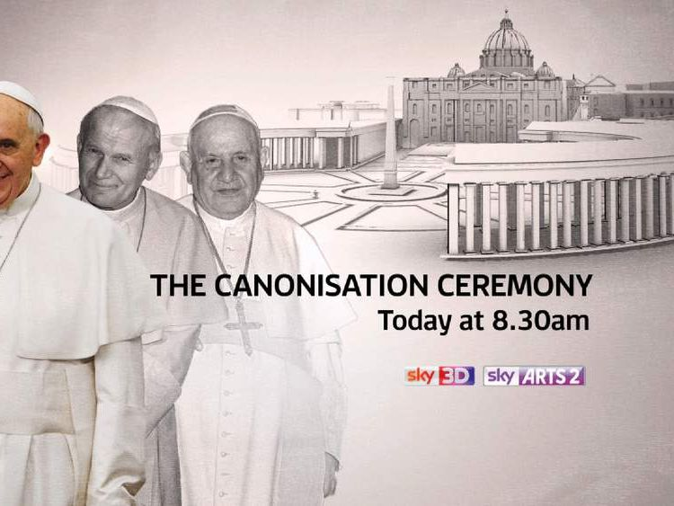Watch live coverage from Rome of the canonisation ceremony at 8.30am