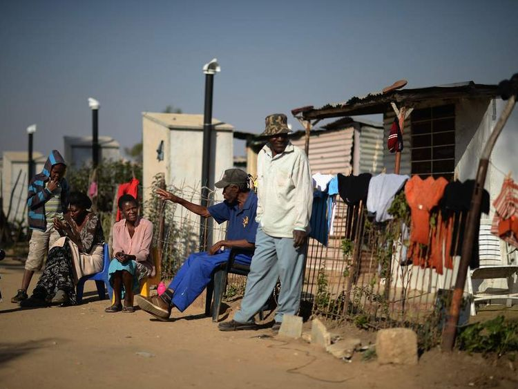 Residents of Diepsloot township