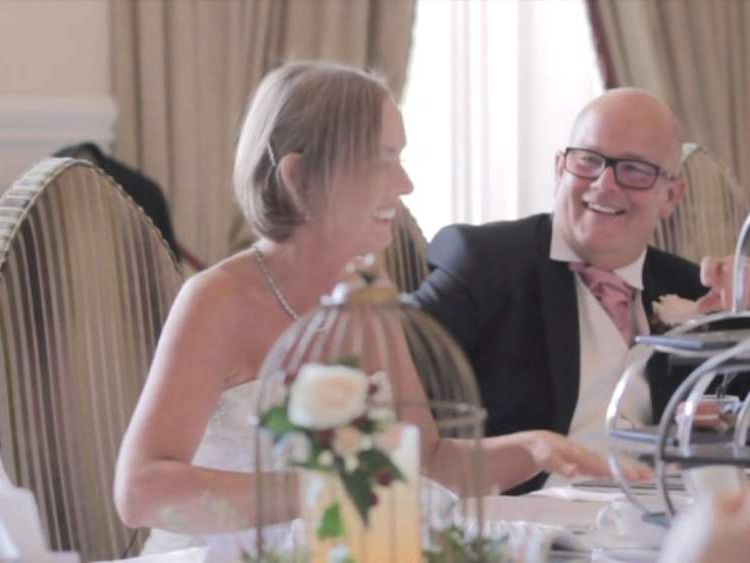 Tracy and Steve Riley-Snelling on their wedding day