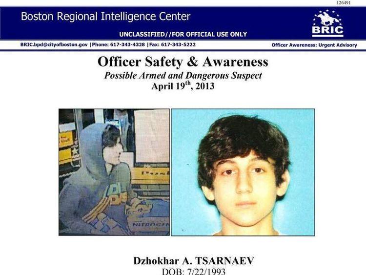 Wanted poster Dzhokar Tsarnaev