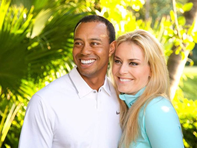 Lindsey Vonn and Tiger Woods (Facebook)