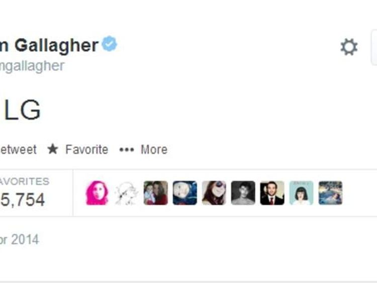 The tweets posted on Liam Gallagher's Twitter page.