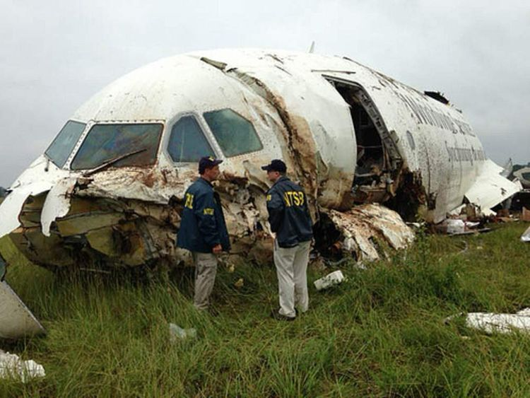 UPS Plane Crashes Near Alabama Airport. Pic: NTSB