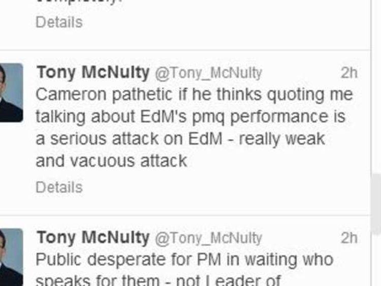 Tony McNulty tweet