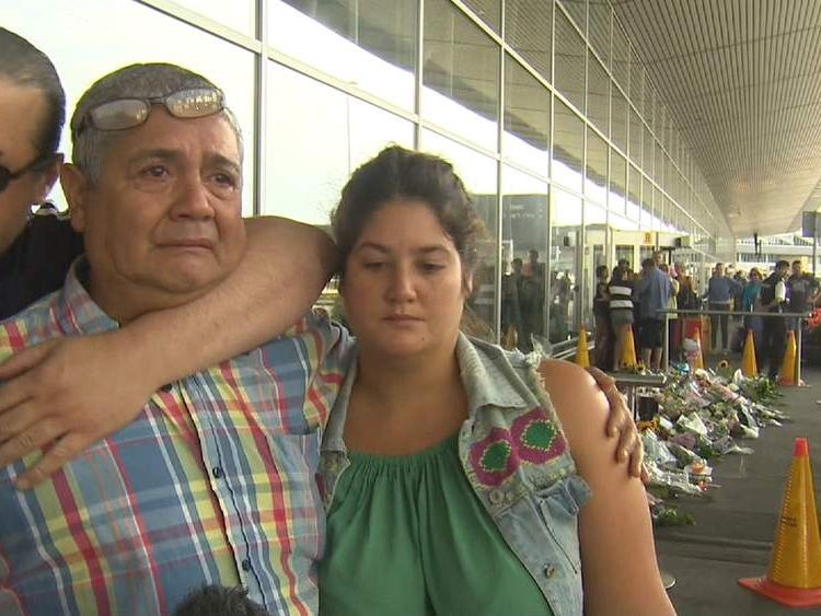 Silene Fredriksz's family at Amsterdam's Schiphol Airport