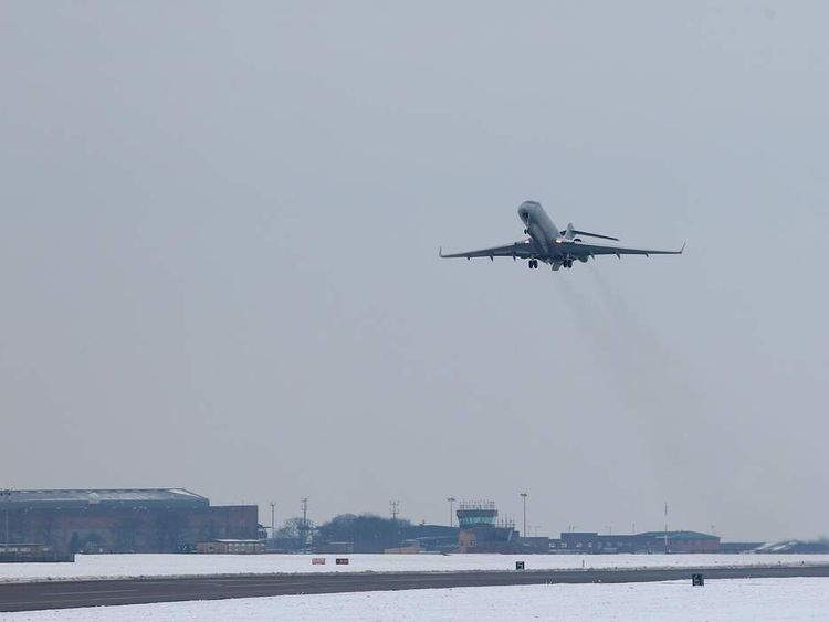 RAF SENTINEL AIRCRAFT DEPLOYS TO AFRICA