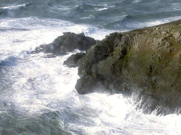 Waves in Salcombe, Devon