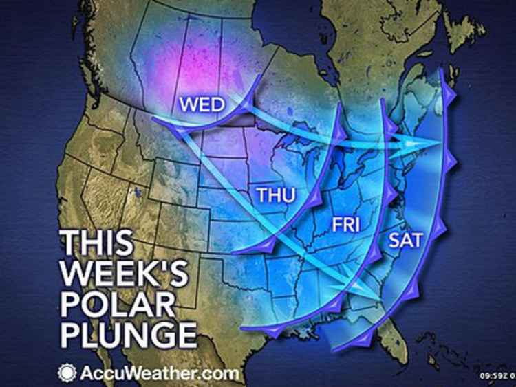 Polar vortex to return to US