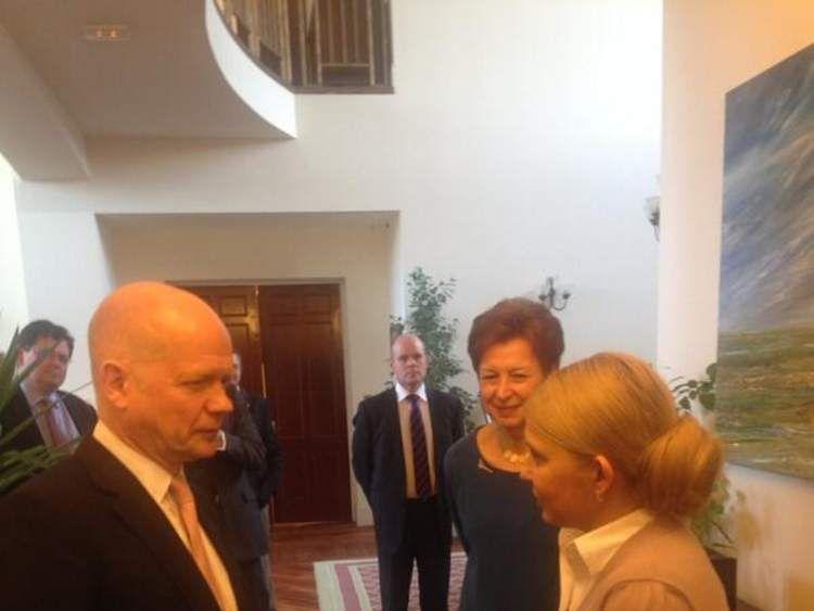 William Hague meets Yulia Tymoshenko (Pic: Tim Marshall)