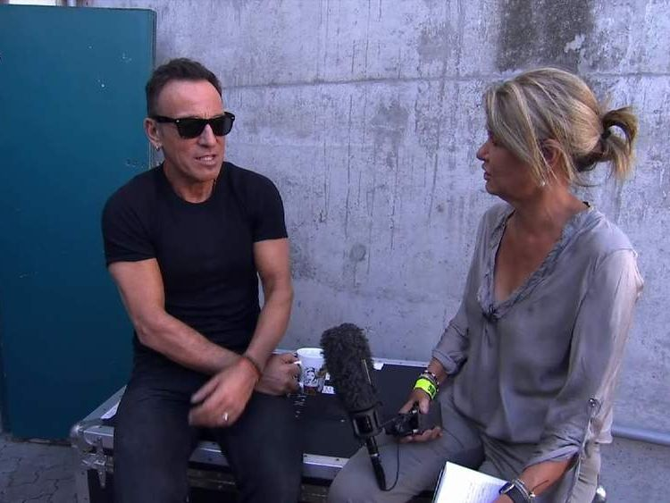 Bruce Springsteen speaks to Alex Crawford