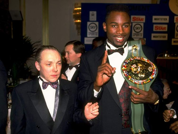 Frank Maloney with Lennox Lewis