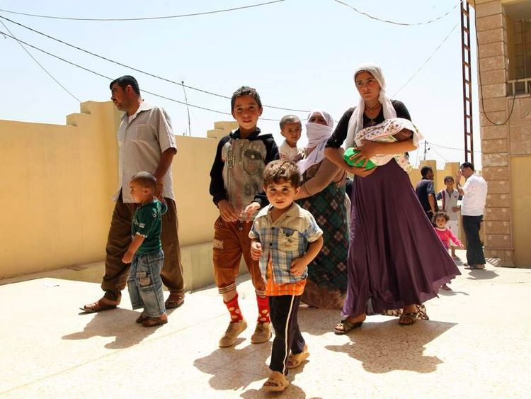 Yazidis flee the violence in Iraq