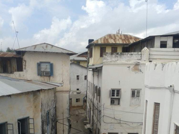The street in Stone Town where the attack took place