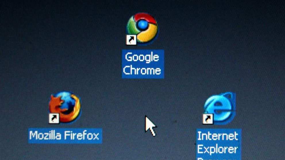 Firefox, Google Chrome and Internet Explorer internet browsers