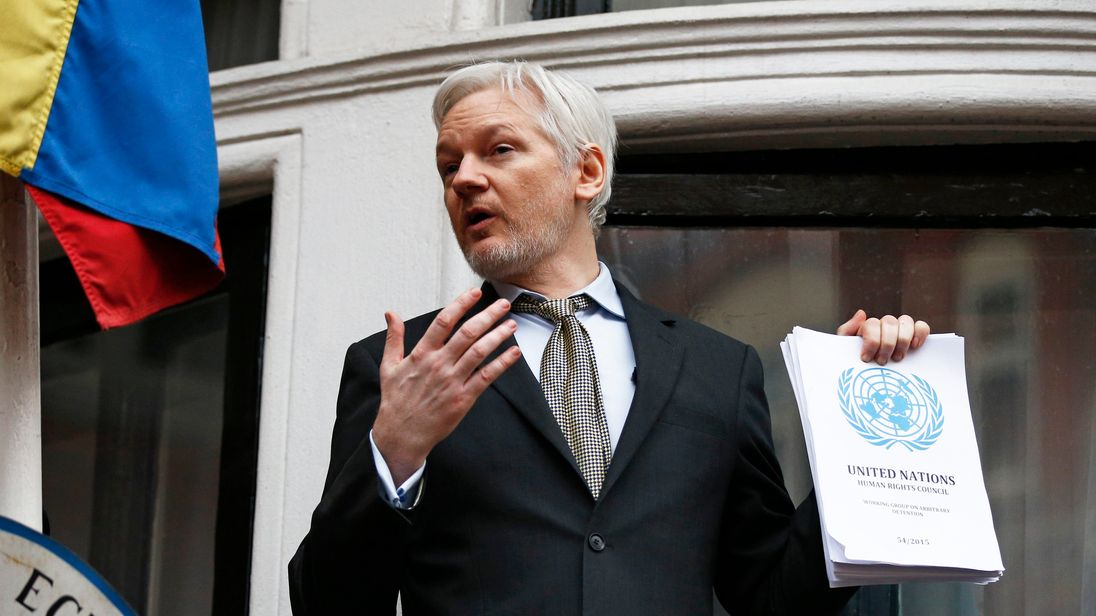 Mr Assange is wanted for questioning over a rape allegation dating back to 2010