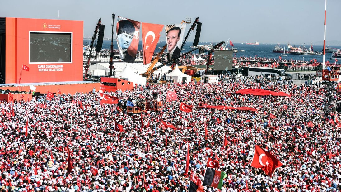 A rally in support of Turkish President Erdogan