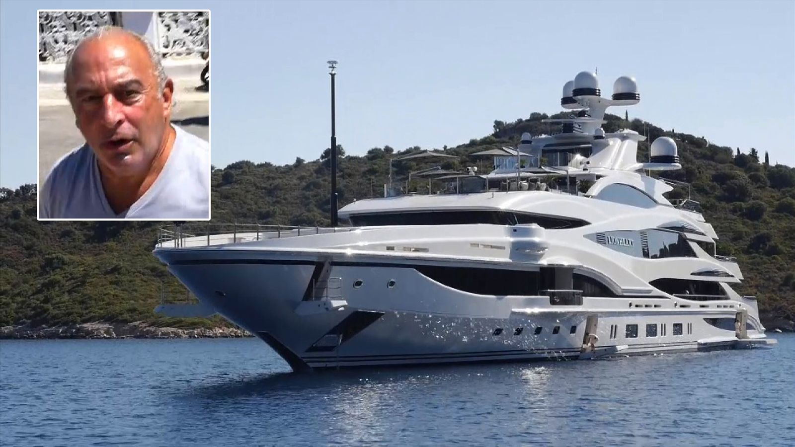 Philip Green has been holidaying on his Lionheart yacht in the Mediterranean