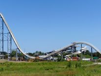 The Verruckt waterslide at the Schlitterbahn Waterpark in Kansas City in July 2014