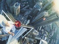 Instragram user abudialsagoff takes a skyscraper selfie in Dubai
