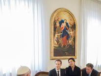 Pope and Mark Zuckerberg at Vatican