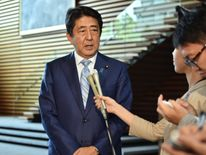 Japan's Prime Minister Shinzo Abe condemned the rocket launch as 'an outrageous act'