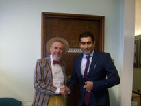 Chris Foote Wood with Bury Council leader Rishi Shori