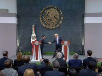 Trump joins Pena Nieto on stage in Mexico