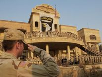 US soliders at a Saddam palace in Mosul in 2003