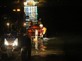Dart RNLI crew launched to the site in Old Mill Creek. Pic: RNLI Dart