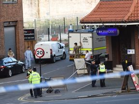 The Army's bomb disposal unit was called in after the arrests of five men