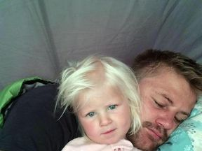 Mckayla Bruynius with her father Rudy Bruynius