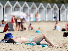 The heatwave has brought sun worshippers out to beaches around the UK