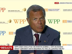 Sir Martin Sorrell, chief executive of advertising giant WPP