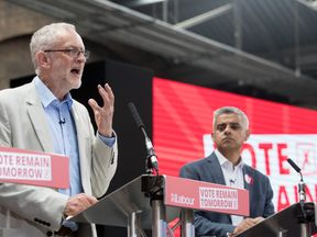 The London Mayor said Mr Corbyn failed to show leadership during the EU referendum